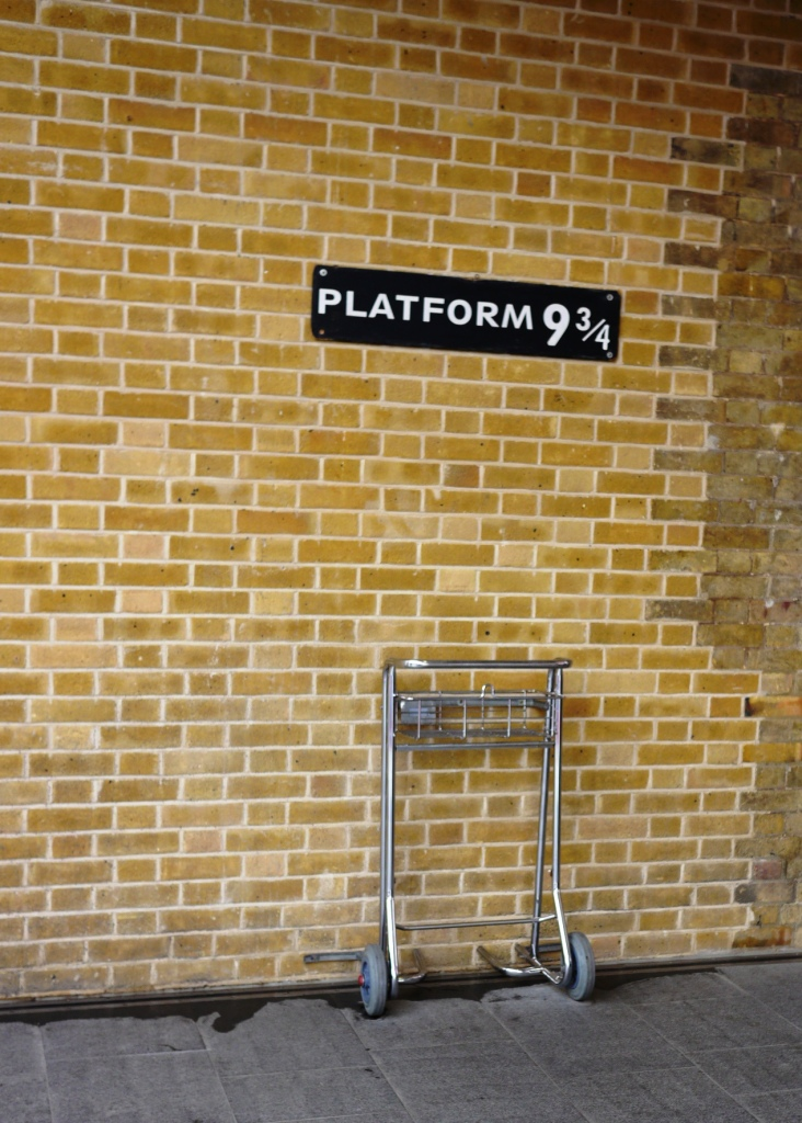 Platform 9 3/4 at Kings Cross in London