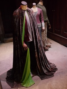 Invisible cloak with green lining at WB Harry Potter Studio