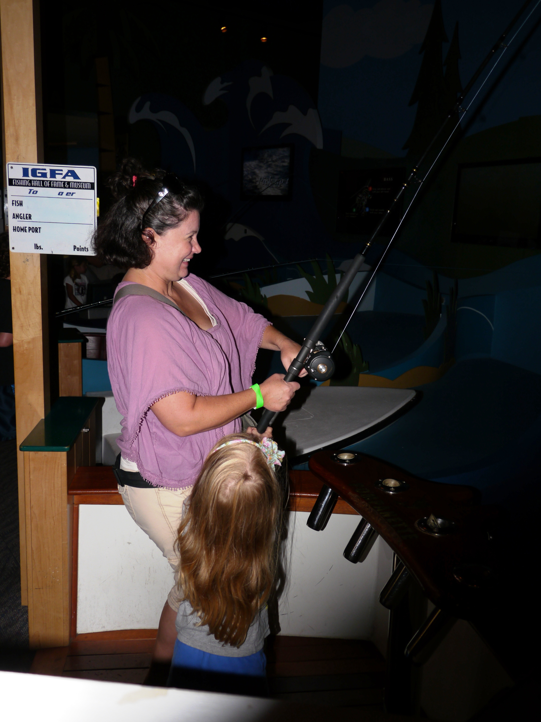 Virtual Fishing Game Room at Fishing Hall of Fame Museum
