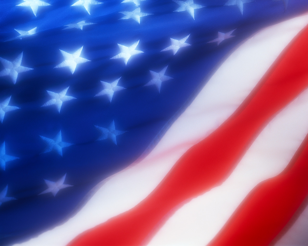 Close up Image of American Flag