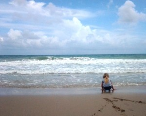 Beach with child by KUWK