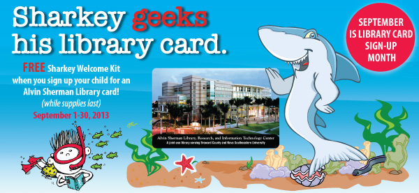 Sharkey Library Card Logo