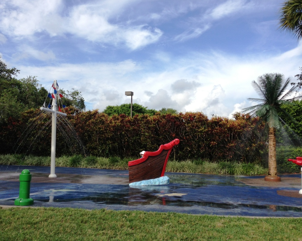 Splash Pad Playground at Patch Reef Park in Boca Raton