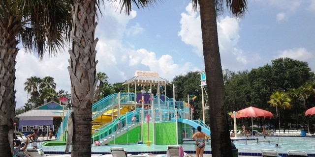 Castaway Island at TY Park interactive pool.