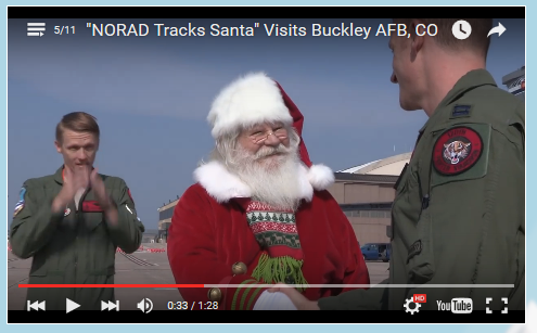 Santa Visit's Buckley AFB