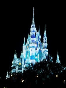 Cinderella's Castle Frozen over by Elsa