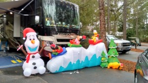 Christmas in Fort Wilderness Campgrounds at Disney World