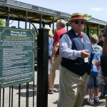 Steam Train Conductor at Greenfield Village, Henry Ford Museum in Dearfield Mi ©KUWK